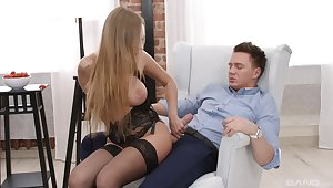 Fabulous lingerie model tries anal in impossible scenes