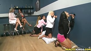 X-rated Ava Addams and her lady pals win unruly rub pussy and suck flannel