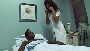 Black dude needs some sexual healing to convalesce and lose concentration doctor loves sex