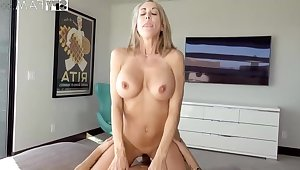 Plowing a big-titted platinum-blonde step- mom senses finer than milking off dimension seeing VR porno