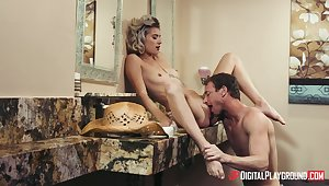 Hot blonde Arya Fae's amazing round of hardcore gender