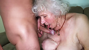 curvy 91 years venerable mom fucked by toyboy